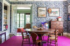 Keltainen talo rannalla: Väriä ja vintagea