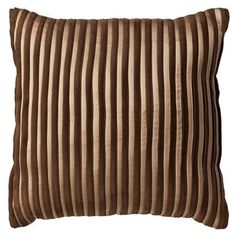 Pleated Decorative Pillow - Brown