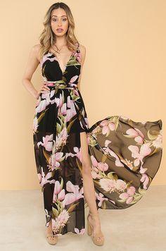 Floral Affair Dress - Black Fashion Heels, Affair, Fashion Forward, Bring It On, Clothes For Women, Floral, Free Shipping, Dress Black, Online Shopping