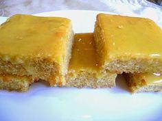 SPLENDID LOW-CARBING BY JENNIFER ELOFF: LEMON SQUARES WITH LEMON GLAZE - Delicious, moist squares with a lovely lemon flavor. Visit us for more delicious recipes at: https://www.facebook.com/LowCarbingAmongFriends AND https://www.facebook.com/LowCarbHitParade