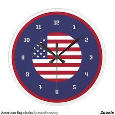 American flag clocks