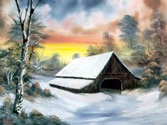 Barn at Sunset ~ Bob Ross