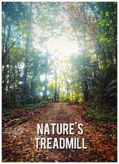 Nature's treadmill #Running #Motivation