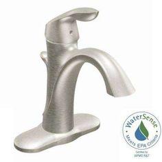 Eva Single Hole Single Handle High-Arc Bathroom Faucet in Brushed Nickel