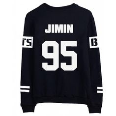 BTS Bangtan Boys Black Hoody Sweater Pullover Shirt (84 PLN) ❤ liked on Polyvore featuring bts