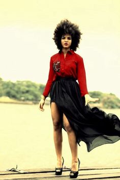 This is beautiful, #natural #black skirt