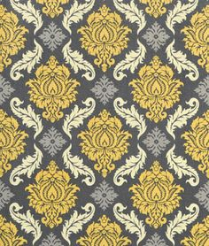 Joel Dewberry Damask Granite Fabric - $8.9 | onlinefabricstore.net