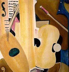 Den grædende guitar Olie på lærred (70x70) 1986 af Svend Christensen