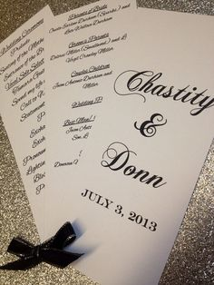 Personalized Wedding Or Special Event Program Fans On Etsy