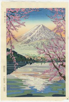 KOICHI OKADA Japanese Woodblock Print MT. FUJI