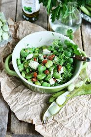 Angie's Recipes . Taste Of Home: Broad Bean Salad with Feta and Almonds