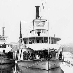 Sternwheelers Gypsy and Ruth at Salem, Oregon, during a flood, sometime between 1895 and Steam Boats, Salem Oregon, Paddle, West Coast, Sailing Ships, Gypsy, Water, Gripe Water, Sailboat