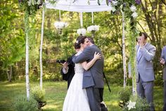 Emery and Jared's Elegant Massachusetts Farm Wedding with Flowers and chuppah by Toni Chandler