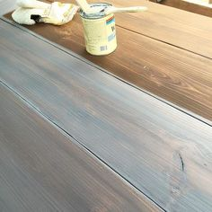 Since I get asked this question 9,000xs every time I post something Whitewashed , I'm going to make a reference post for you guys ! To get the White Wash finish, I first stain the piece in Dark Walnut (Minwax OR Varathane give same results), I then QUICKLY hand-rub a layer of Minwax White Wash Pickling over that. I do this immediately after I stain, so that the two blend a tad. You have to work so fast, because you put it on so thin, that it dries almost immediately. Practice before you…