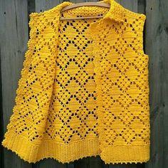 Made to order , Crochet wearable , Crochet blouse , Spring, Women Top Filet Crochet, Pull Crochet, Mode Crochet, Crochet Girls, Crochet Crop Top, Crochet Diagram, Crochet Stitches, Knit Crochet, Cardigan Au Crochet