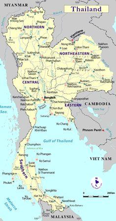 Mapas Mapas Tailandia Viajes
