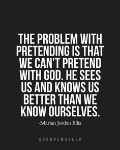 God sees all. // Image quote from @marianjordan