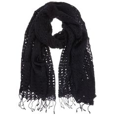 Mint Velvet Lace Scarf, Black ($51) ❤ liked on Polyvore featuring accessories, scarves, lightweight scarves, lacy scarves, mint velvet, lacy shawl and faux-fur scarves