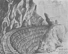 Leo Rawlings, FEPOW artist. The bridge constructed at Wampoh, Thailand-Burma Railway.
