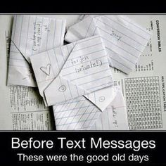Remember these? This is old school text messaging! Funny thing- I still have some of mine saved from my friends from high school! Do you remember these? And do you have any you saved?