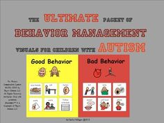 Ultimate Packet of Behavior Management Visuals for Children with Autism! {10 behavior management interventions with visuals and thorough directions for implementation for a variety of behaviors}