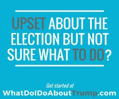 Upset about the election and want to make a difference? Get started at WhatDoIDoAboutTrump.com. Comprehensive guide to post-election volunteering and activism.