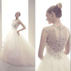 Custom Made 2014 new fashion vestidos de noiva long casamento luxury custom  tulle elegant ball gown wedding Dress $179.00