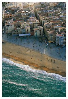 La Barceloneta, desde el cielo, Barcelona, Spain
