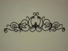 metal wall decor reminiscent of