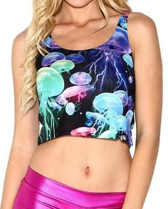Electric Jellies All Over Print Rave Crop Top