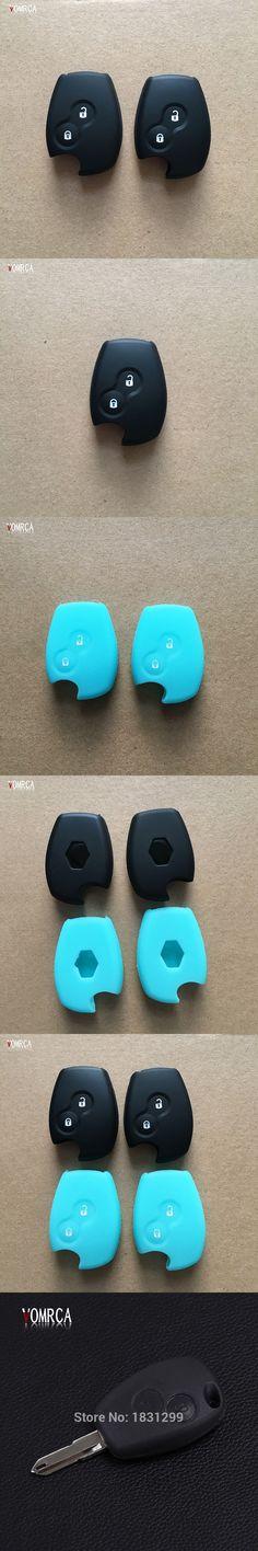 2017 Popular 2 Buttons Car Key Silicone Case Cover for Renault Dacia Logan Sandero Clio Megane Kangoo Modus Espace keychain
