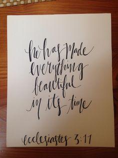 Ecclesiastes 3:11 • Emily Holliday