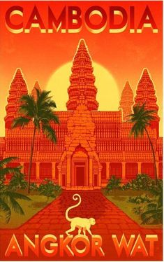 Vintage Poster Angkor Wat vintage travel poster - Homepage › Forum › Cambodia Forum › Cambodia in Photos Tourism Poster, Poster S, Angkor Wat, Vintage Travel Posters, Vintage Postcards, Travel Ads, Travel Trip, Travel Photos, Photo Vintage