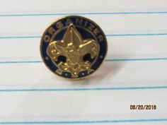 Vintage BSA Boy Scouts of America Organizer Hat Lapel Pin Tie Tack Blue Enamel Gold Tone by EvenTheKitchenSinkOH on Etsy