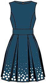 DIY Womens Clothing : Ejemplos de modelos de vestidos (2) se basa en la calculada en el cortador