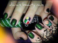 Gelcolor OPI & nailart OPI COCA COLA COLECTION GREEN ON THE RUNWAY