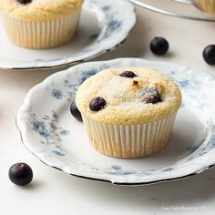 Low Carb Blueberry Muffins - Keto, Gluten Free Peace Love and Low Carb
