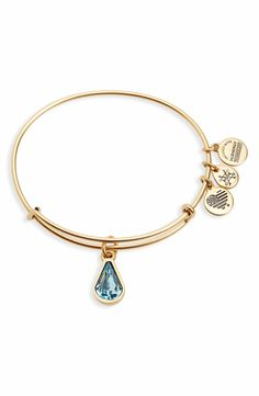 Main Image - Alex and Ani Birthstone Expandable Wire Bangle with Swarovski Crystal