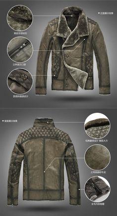 Aliexpress.com: Купить Xxxxl на открытом воздухе байкер череп панк куртка с круглым воротом натуральный мех из натуральной кожи пальто для сделки человек из Надежный пальто ткань поставщиков на Shenzhen Hongyi industry Co,. Limited