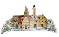 Rothenburger Weihnachtswerkstatt Stadtpanorama Rothenburg