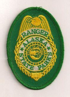 Alaska State Park Ranger badge patch