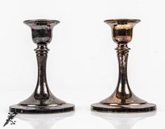 Pair of Candlestick / Taper Candle Holders Vintage Oneida USA Silverplate Silver Plate - Downton Abbey Edwardian by TheCordialMagpie from Etsy. Find it now at http://ift.tt/1PnjJ4d!