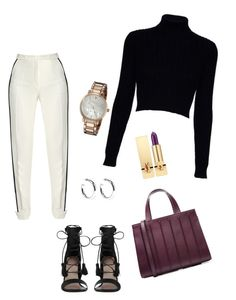 A fashion look from November 2016 featuring blue sweater, straight leg pants and black sandals. Browse and shop related looks. Jack Wills, Elie Saab, Yves Saint Laurent, Kate Spade, Shoe Bag, Polyvore, Stuff To Buy, Shopping, Collection