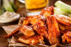 Roasted NOT FRIED Hot Wings! https://blog.devereuxfoods.com/2017/05/24/roasted-hot-wings/