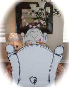 Precious Headboard/table décor -----Jillian's Pancake and Pajama Party | CatchMyParty.com
