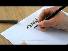 Kuretake Brush Pen Calligraphy - YouTube