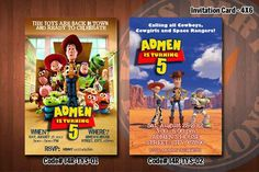 """TOY STORY Invitation - Printable Birthday Invitation for Toy Story Party (4""""x6"""" or 5""""x7"""")"""