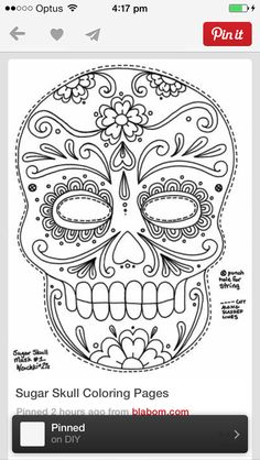 day of the dead skull Coloring pages colouring adult detailed advanced printable Kleuren voor volwassenen Yucca Flats, N.: Wenchkin's Coloring Pages - Sugar Skull Mask Skull Coloring Pages, Colouring Pages, Printable Coloring Pages, Coloring Sheets, Free Coloring, Adult Coloring, Coloring Books, Online Coloring, Mandala Coloring
