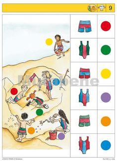 Na hřišti a u vody - 2012 | Nakladatelství Mutabene Preschool Math, Fun Math, Kindergarten, Logic Games, Logic Puzzles, Lessons For Kids, Math Lessons, Picture Comprehension, Brain Activities