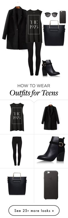 """."" by nicoleszlavik on Polyvore featuring J Brand, Topshop, Yves Saint Laurent, women's clothing, women, female, woman, misses and juniors"